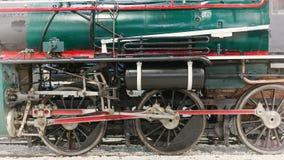 Green antique stream train royalty free stock photos