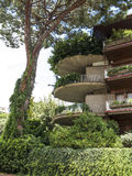 Green Apartment block balconies in Rome Royalty Free Stock Photos