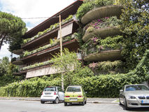 Green Apartment block in Rome Royalty Free Stock Images