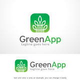 Green App Logo Template Design Vector, Emblem, Design Concept, Creative Symbol, Icon Stock Photos