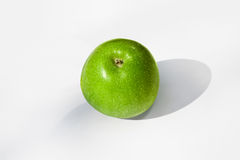 Green apple. Green apple isolated on white. Up Royalty Free Stock Images