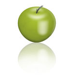 Green apple. Ripe green apple on a white background Stock Image