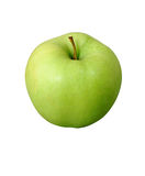 Green apple. Isolated green apple with clipping path Stock Photography