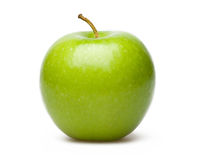 Green Apple. Isolated On White Blackgroud Stock Images