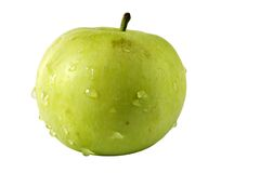 Green apple. Isolated on white stock images