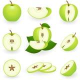 Green apple. Vector illustration of green apple Stock Photos