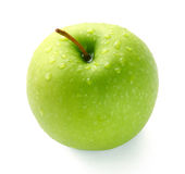 Green apple. The green apple on white background Stock Images