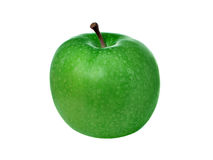 Green apple. Isolated over pure white background royalty free stock image
