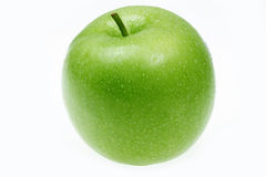 Green apple. Juicy green apple isolated on white background Royalty Free Stock Images