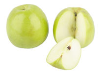 Green apple. Isolated in white background Royalty Free Stock Image