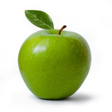 Green Apple. Green Granny Smith apple isolated on white, clipping path included Royalty Free Stock Images