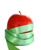 Green apple. Red apple with green ribbon tied around Royalty Free Stock Photos