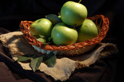 Green apple. Still life by fresh green apple Royalty Free Stock Photography