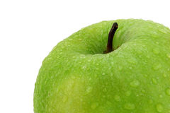 Green Apple. A green apple on a white background Stock Images