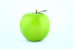 Green apple. To white background royalty free stock photography