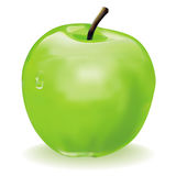 Green apple. On a white background Royalty Free Stock Photography