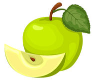 Green apple. Royalty Free Stock Photo
