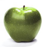 Green apple. Tasty green apple on isolated white background Royalty Free Stock Images