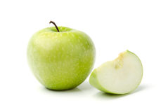 Green Apple. On White Royalty Free Stock Photos