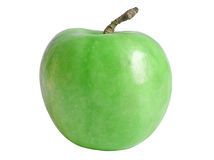 Green apple. Big green apple closeup seperated Stock Image