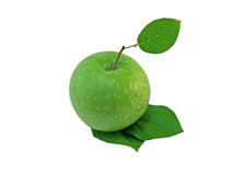Green Apple. On white background Stock Images