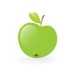Green apple. Fresh green apple vector illustration isolated on white background. Health symbol Stock Images