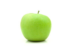 Green apple. Fresh green apple isolated on the white background royalty free stock photography