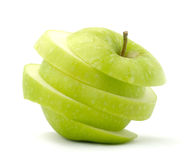 Green apple. Slices of fresh green apple Royalty Free Stock Photography