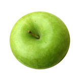 Green Apple. Top view of a green apple with a perfect shape on white isolated background Stock Photos