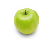 Green apple. Green fresh apple isolated on white Stock Images