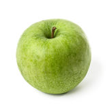 Green apple. Wet green apple isolated on white Royalty Free Stock Photos