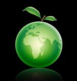 Green apple. In all that dark must be green heart Royalty Free Stock Image