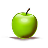 Green apple. Juicy, green apple with a lot of vitamins should be a primary ingredient in everybodys diet Stock Photography