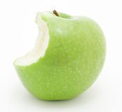 Green apple. A green granny smith apple royalty free stock images