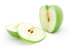 Green apple. A green granny smith apple stock photo