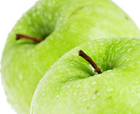 Green Apple. On white background Royalty Free Stock Photo