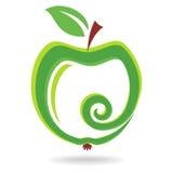 Green apple. Abstract vector fruit Stock Photo