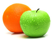 Free Green Apple And Orange 2 Stock Images - 4725524