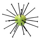 Green Apple And Screws Stock Photo