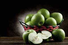 Green Apple antique style Stock Photos