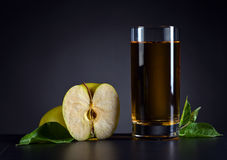 Green apple and apple juice Royalty Free Stock Photo