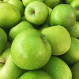 Green apple background Royalty Free Stock Photos