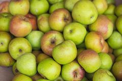 Green apple background. Asian tropical fruits for sale.  Royalty Free Stock Photo