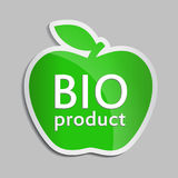 Green apple BIO logo. second Royalty Free Stock Photography
