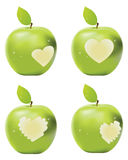 Green Apple Bite Stock Image