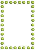 Green Apple Border Large Stock Image