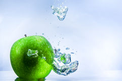 Green Apple and Bubbles Stock Photos