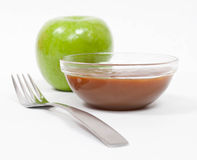 Green Apple with Caramel Royalty Free Stock Image