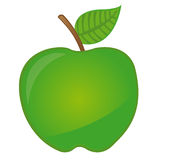 Green apple cartoon Stock Photography