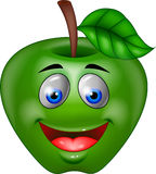Green apple cartoon Stock Images